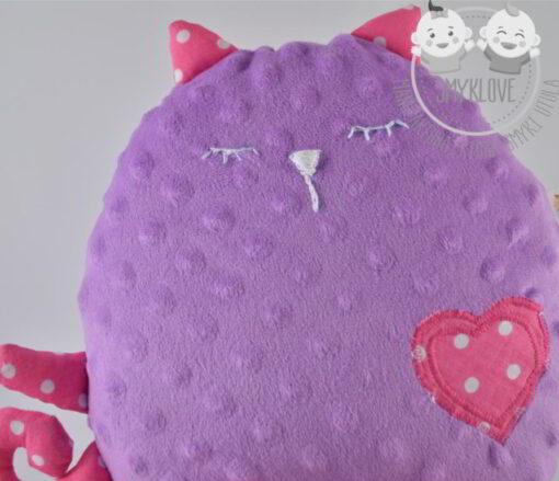 kot minky przytulanka głowa