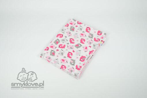 SMYKLOVE - kocyk minky dla dziewczynki - bawełna we wróbelki