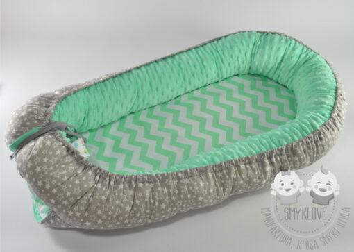 Kokon dla noworodka z wkładką z drugiej strony