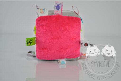 Kostka sensoryczna różowa - handmade od Smyklove