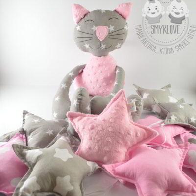 Maskotka kot i girlanda gwiazdki