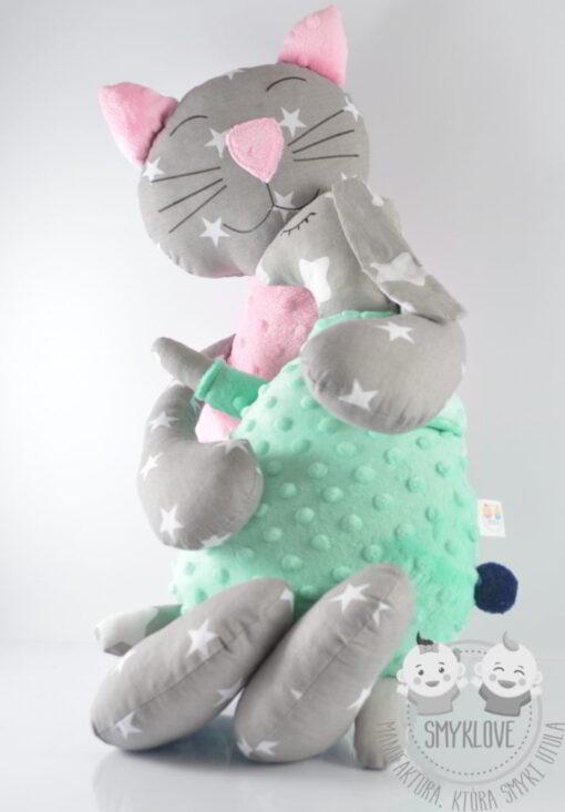 Maskotki kotek i zajączek