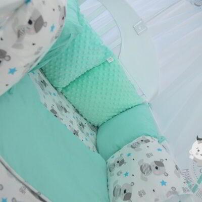 Ochraniacz do łóżeczka minky handmade od Smyklove