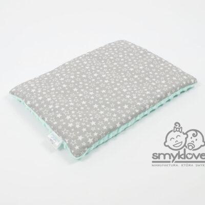 Poduszka płaska dla niemowlaka z minky i bawełny