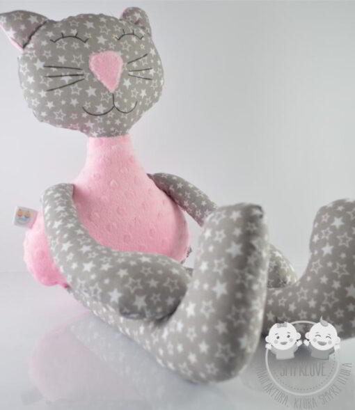 Przytulanka kot różowy - siedząca