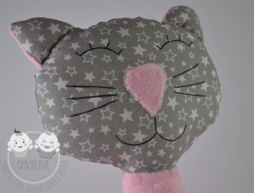 Przytulanka kot różowy -zdjęcie mordki