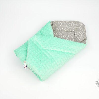 Rożek niemowlęcy minky miętowy od smyklove