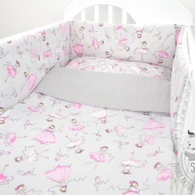 komplet do łóżeczka dla dziewczynki