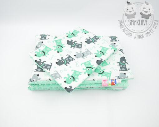 Kocyk minky premium - z poduszką z góry