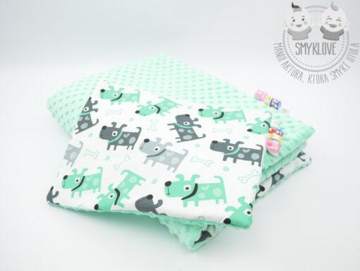 Kocyk minky premium - komplet z poduszeczką