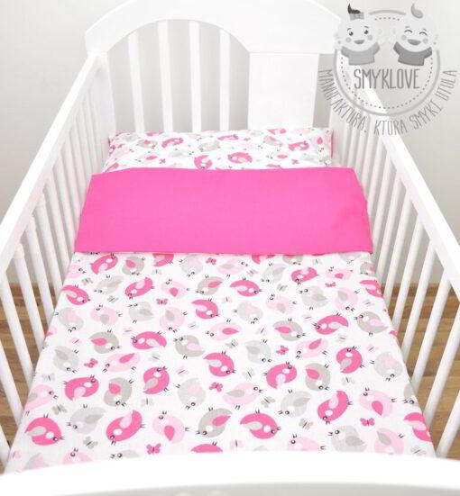 różowa pościel do łóżeczka dla dziewczynki