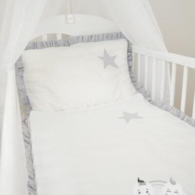 Pościel do łóżeczka z falbanką