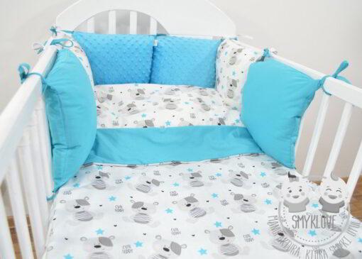 Pościel i ochraniacz do łóżeczka handmade