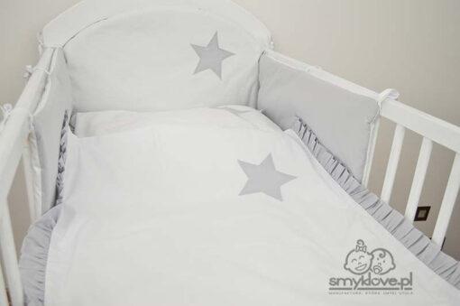 Ochraniacz do łóżeczka - wersja z białym zagłowiem