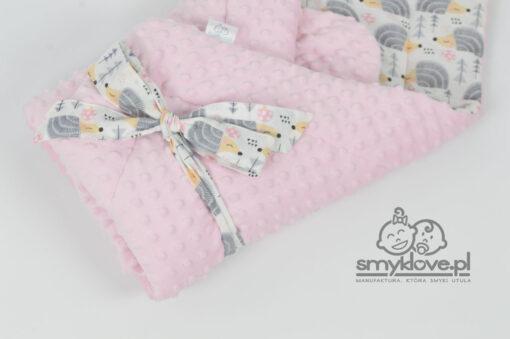 Wiązanie na szarfę w rożku różowym w jeżyki od Smyklove