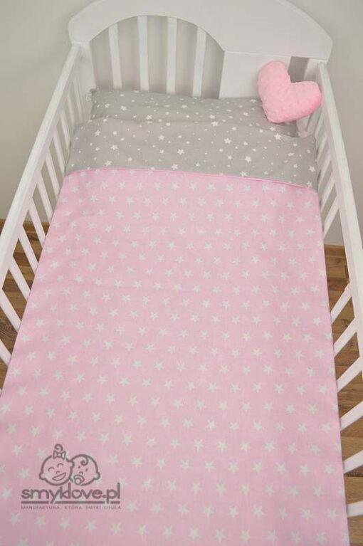 Pościel niemowlęca różowa - widok z góry