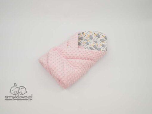 Dwustronny rożek różowy dla dziewczynki