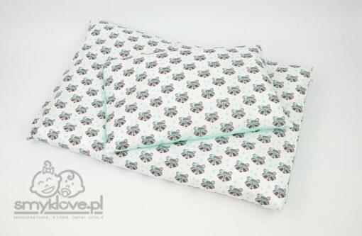 Pościel miętowa - widok na poduszkę i kołdrę