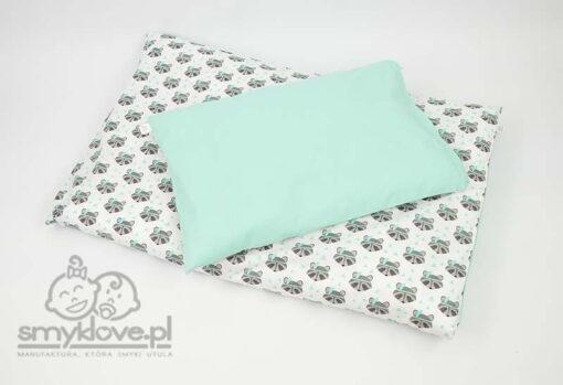 Pościel miętowa w szopy - strona miętowa poduszki