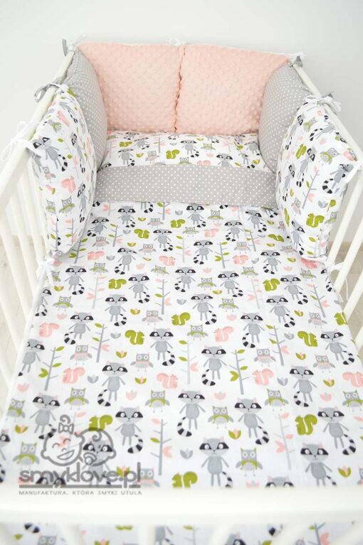 Ochraniacz i pościel zestawie dziecięcym do łóżeczka od Smyklove