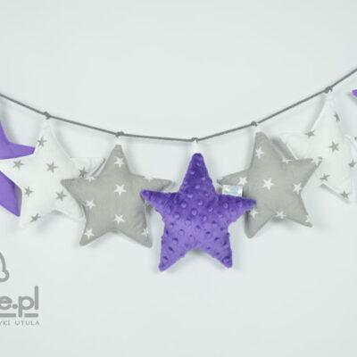 Zdjęcie całej girlandy gwiazdki fioletowej
