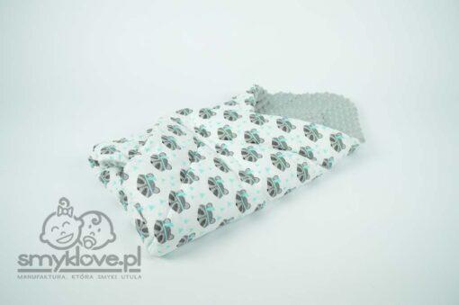Rożek niemowlęcy szary z bawełną w szopy