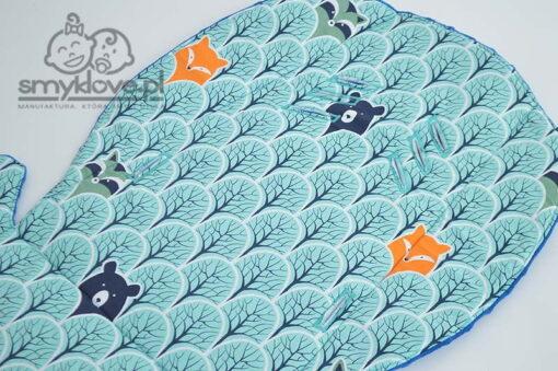 Zbliżenie na tkaninę bawełnianą we wkładce do wózka Bexa ultra