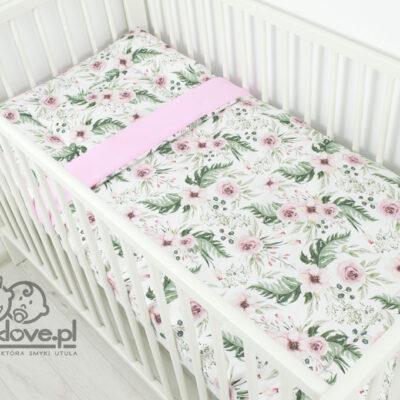 Pościel z wypełnieniem do łóżeczka w kwiaty ingarden od Smyklove