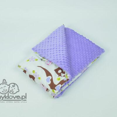 Zdjęcie kocyka minky fioletowego