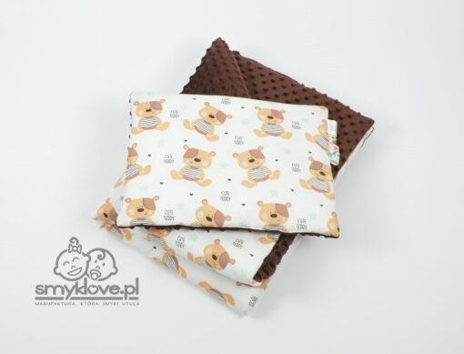 Kocyk i poduszka płaska z minky od Smyklove