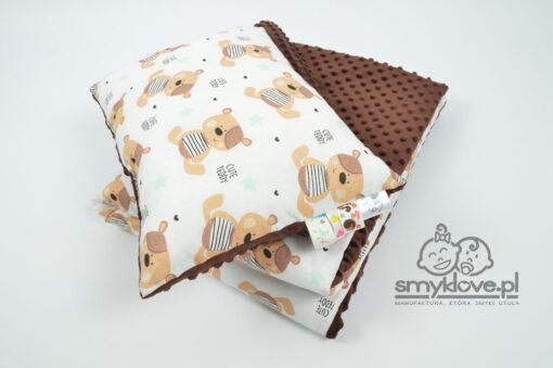 Zestaw do przedszkola kocyk i poduszka z wypełnieniem od Smyklove