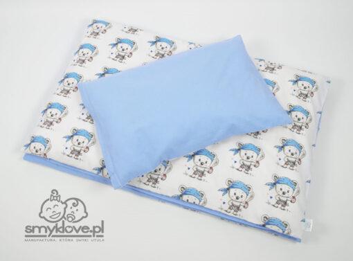 Niebieska pościel do łóżeczka dla chłopca