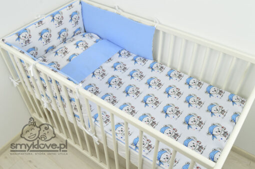 Pościel niemowlęca dla chłopca z ochraniaczem