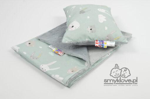 Kocyk mnky burnout wraz z poduszką z wypełnieniem