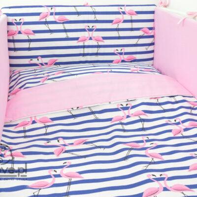 Pościel do łóżeczka flamingi - Smyklove