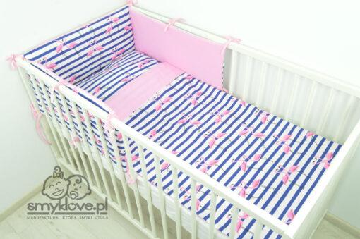 Pościel flamingi do łóżeczka dla dziewczynek od Smyklove