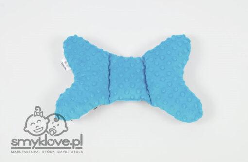 Poduszka motylek z niebieskiem minky dots od Smyklove