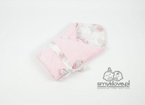 Rożek niemowlęcy dalie z pudrowym minky burnout