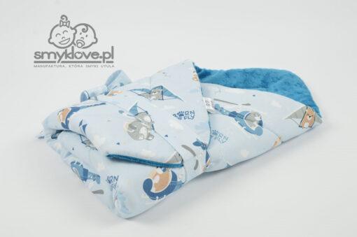 Zawiązany rożek niemowlęcy z bawełną premium na zewnątrz od Smyklove