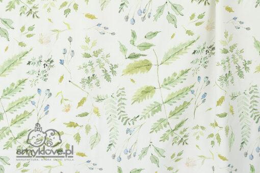 Tkanina w paprotki w otulaczu bambusowym od Smyklove