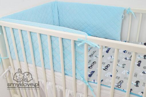 Niebieski ochraniacz do łóżeczka 180 cm - SMYKLOPVE