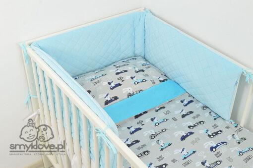 Niebieski ochraniacz do łóżeczka - Smyklove