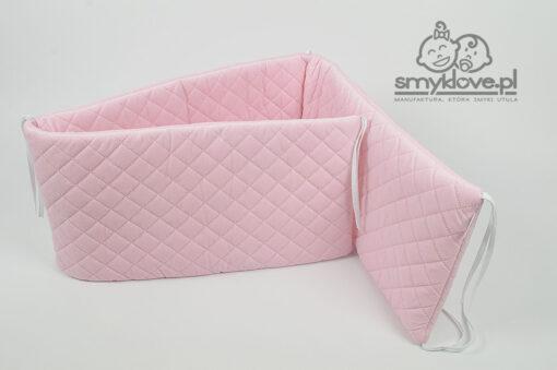 Różowy ochraniacz do łóżeczka - SMYKLOVE