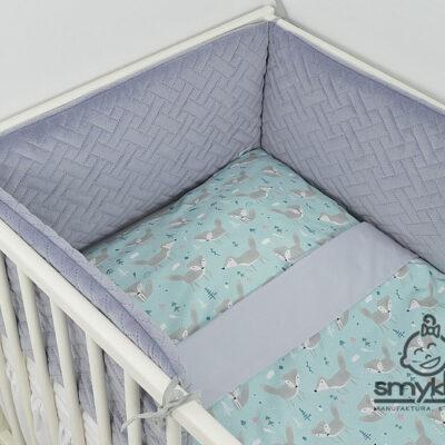 Szary ochraniacz do łóżeczka - Smyklove