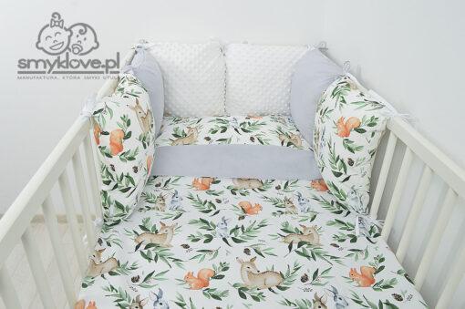 SMYKLOVE - pościel do łóżeczka leśne zwierzątka
