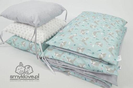 Pościel 120x90 do łóżeczka z ochraniaczem z poduszek hand made od Smyklove