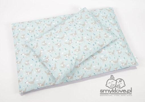 Pościel 120x90 w liski do łóżeczka z ochraniaczem z manufaktury Smyklove
