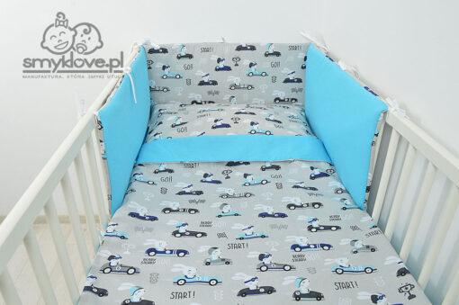 SMYKLOVE - pościel w wyścigówki i króliczki do łóżeczka