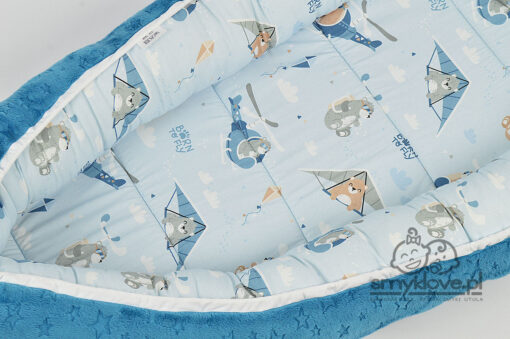 Kokon dla niemowląt bor to fly - zbliżenie na część bawełnianą