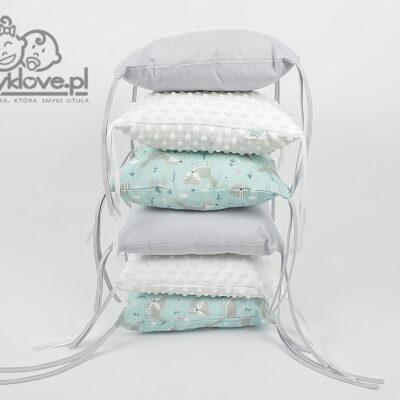Ochraniacz na szczebelki z bawełny premium - SMYKLOVE